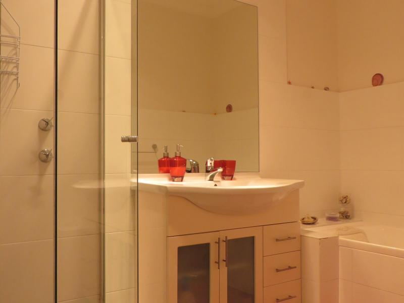 A luxury bathroom with separate shower and bath tub all to yourself!