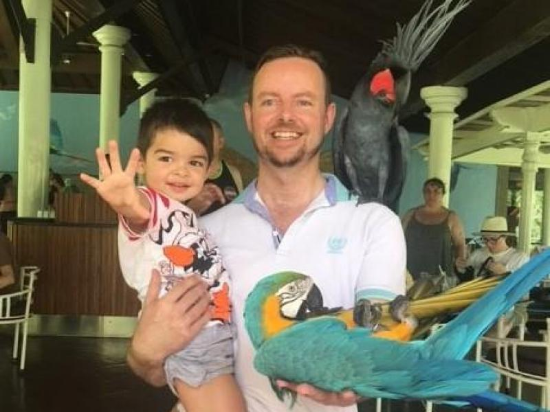 Our family at the bird park