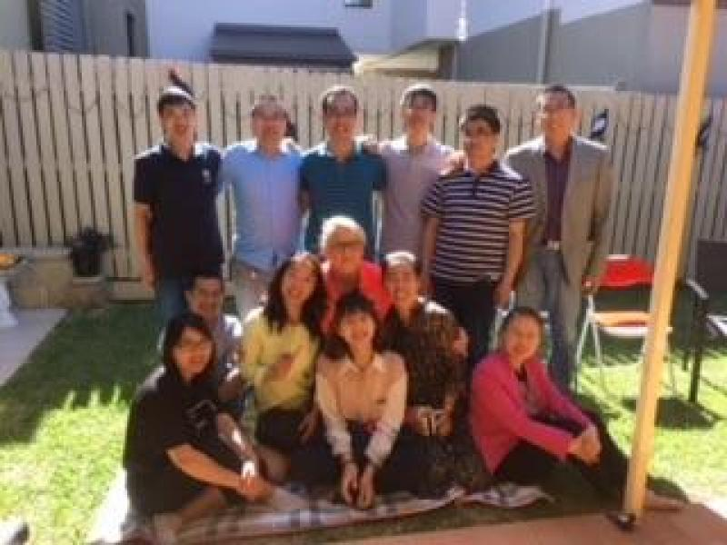May18. Chinese teachers visiting my home and my students
