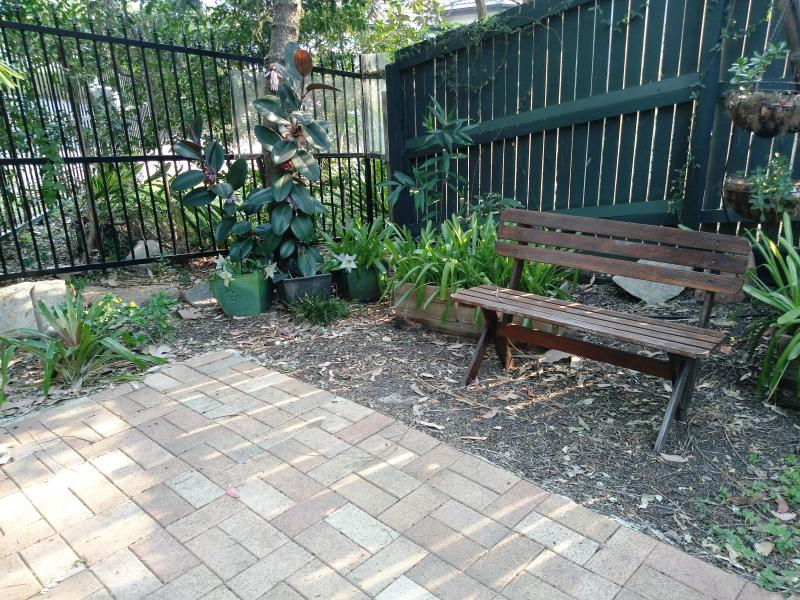 A quiet sitting place in the back garden