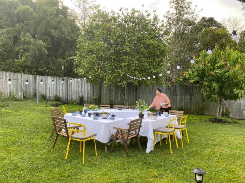 Big backyard ideal for party and dinner:)