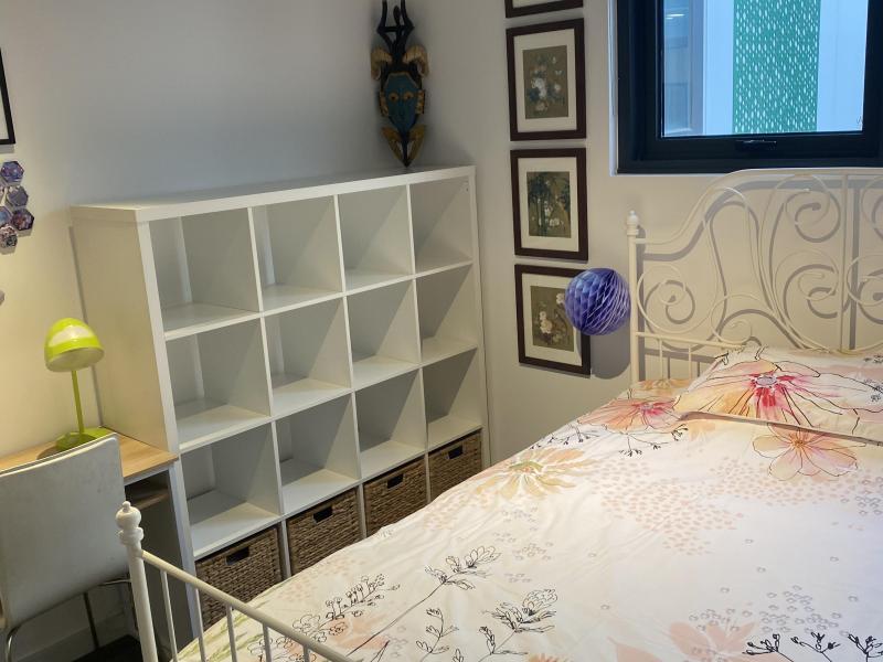 Internal bedroom shelves