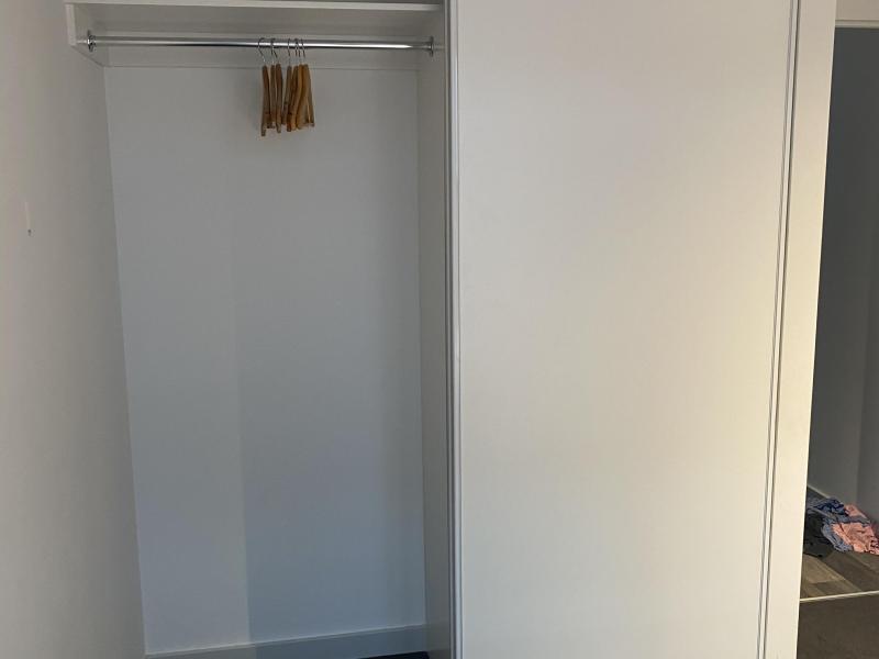 Internal bedroom wardrobe hanging
