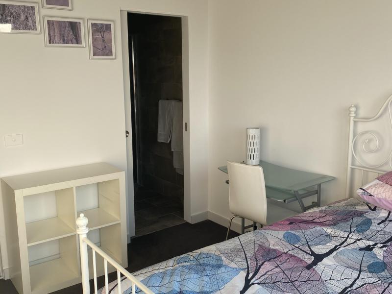 City bedroom shelves and desk