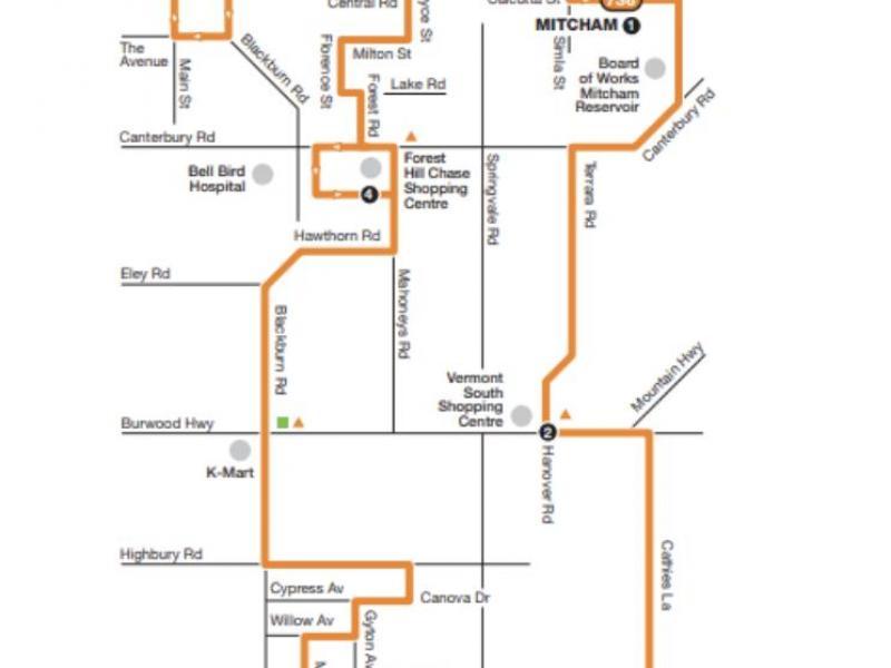 736 bus route