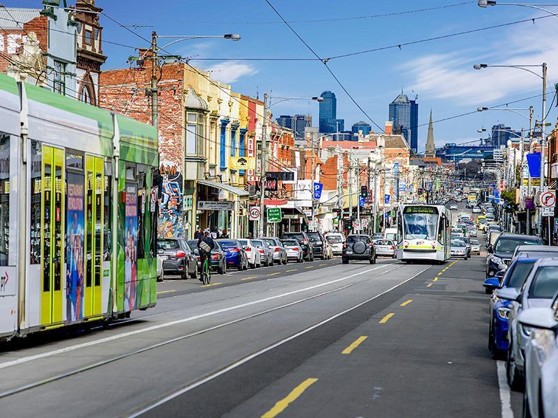 Nearby Sydney Rd with tram to the city
