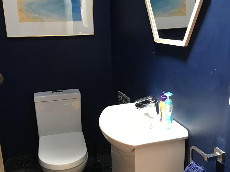 Separate powder room - shared