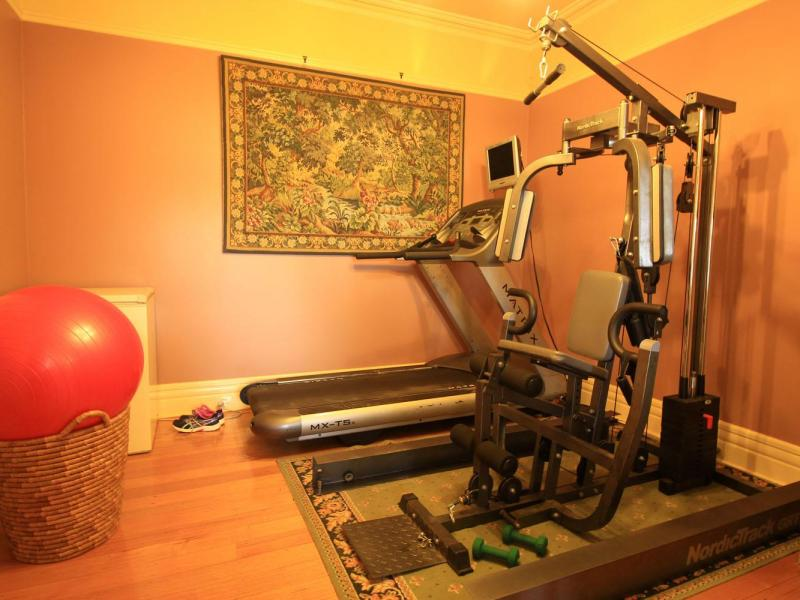 The house has a small gym