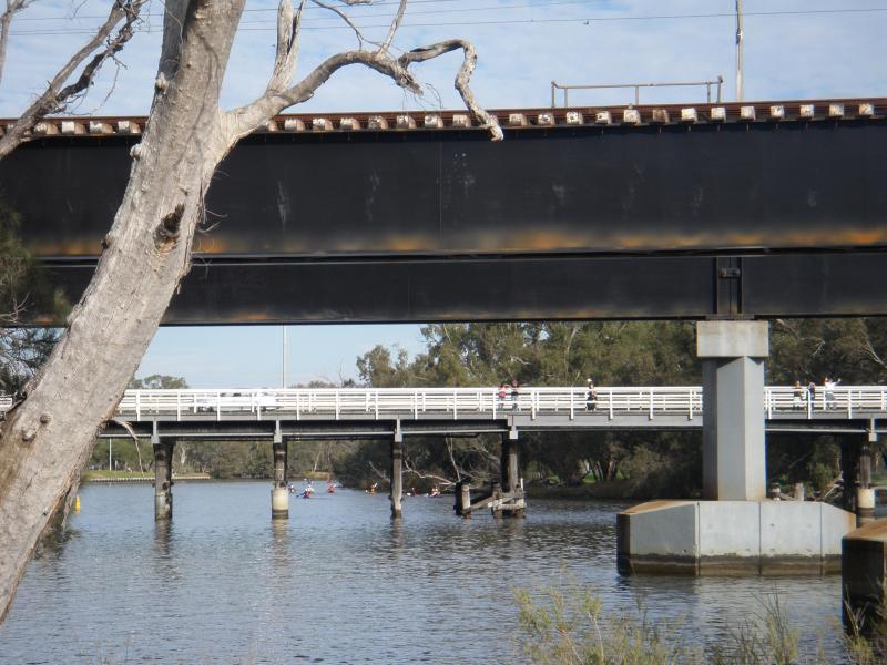 Rail and Road Bridges, Swan River, Bassendean