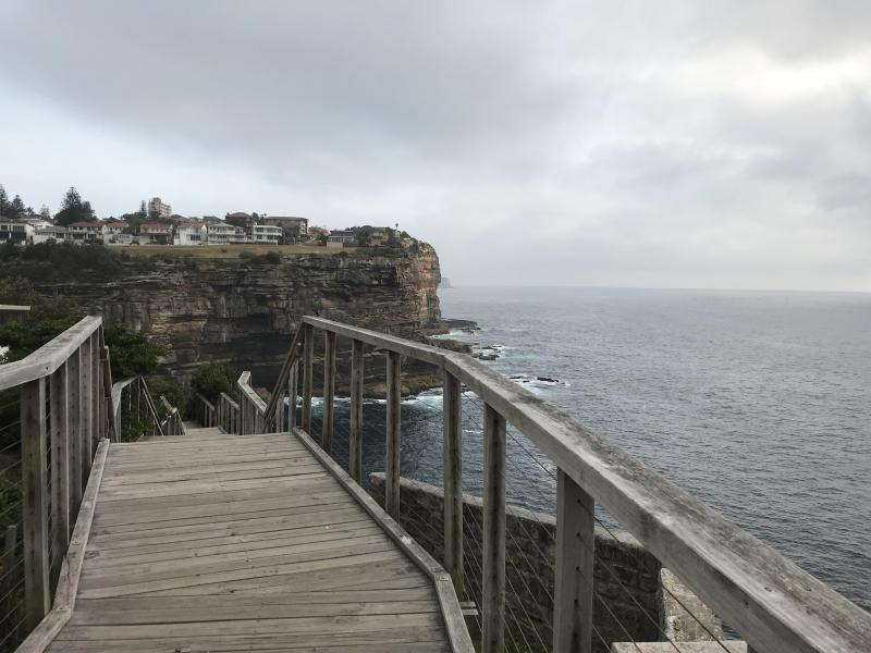 walk along cliff walk by the sea
