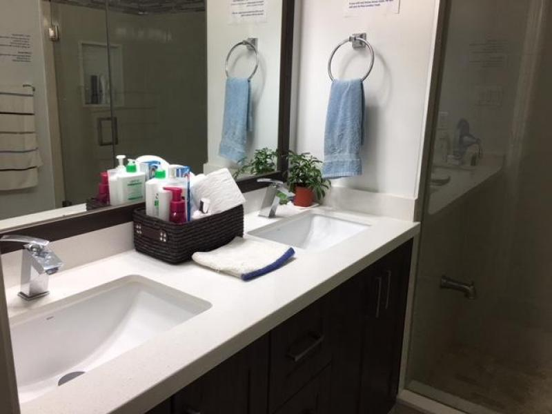Shared washroom vanity