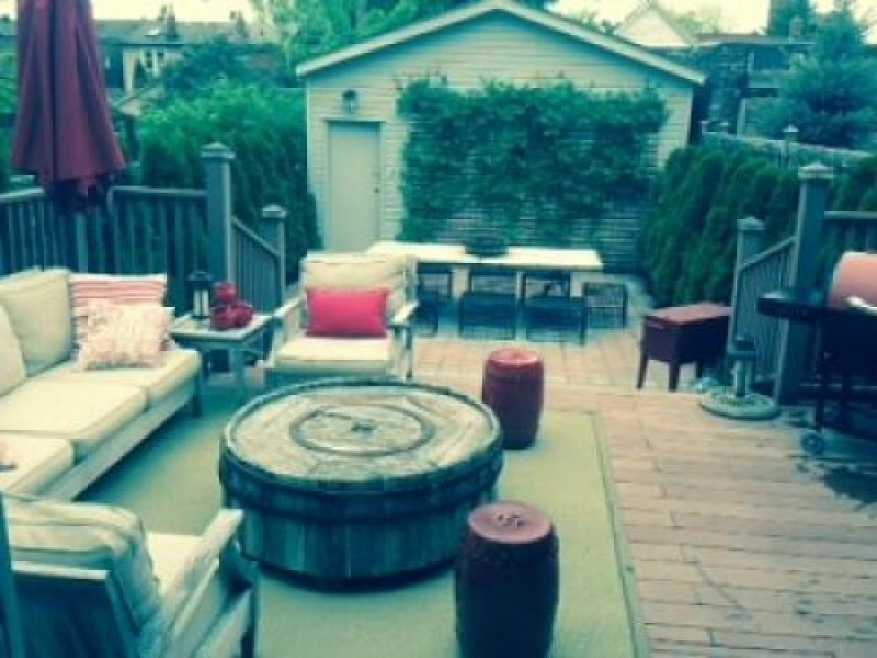 Back yard deck and BBQ