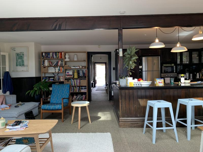 Kitchen + Living Room + Hallway