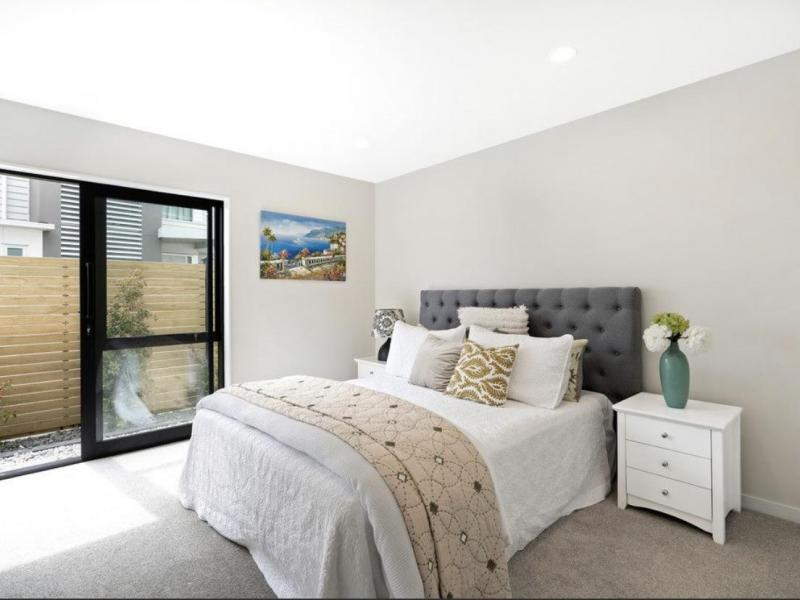 Large bedroom with private entry
