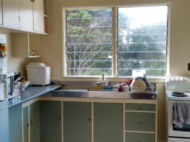 Kitchen overlooking bush