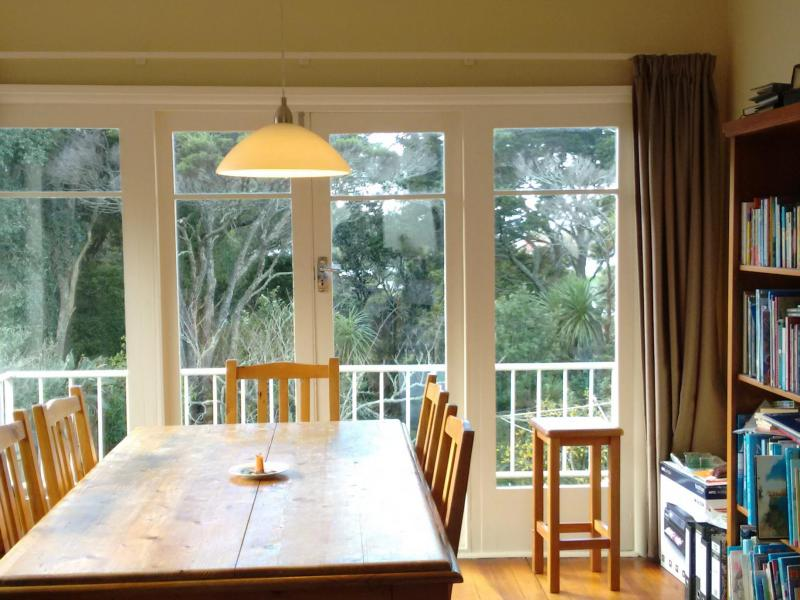 Dining room overlooking bush