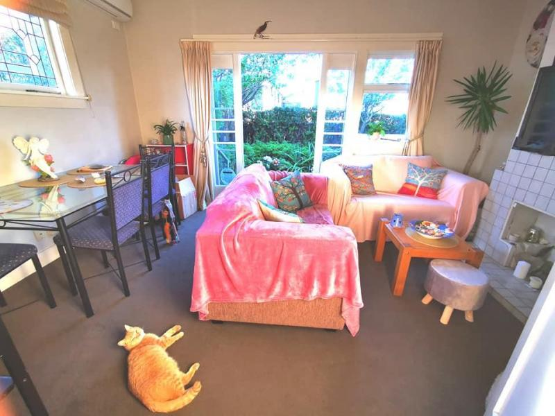 Lounge and dining area with access to the courtyard garden and my sweet cat Tilly :)