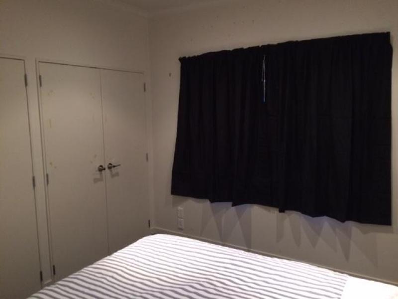 Double wardrobe in room