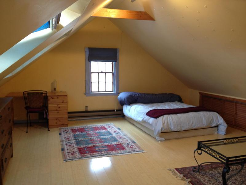 3rd floor West - double bed, 2 skylights, desk and dresser, w/couch -$975/mo