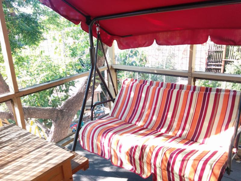 Another place to relax on back deck